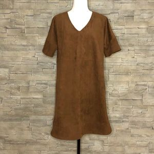 Lord & Taylor, 424 Fifth brown faux-suede dress
